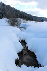 WINTER SNOW LANDSCAPE NATURE PAYSAGE FROM JURA IN FRANCE