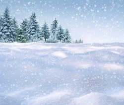 winter snowing background