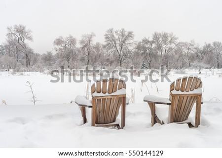 winter snowy landscape in...