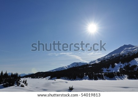 Winter sports in Alaska