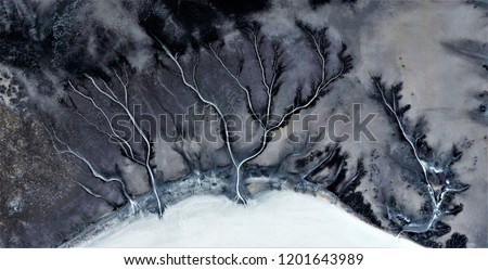 winter storm, abstract photography of the deserts of Africa from the air. aerial view of desert landscapes, Genre: Abstract Naturalism, from the abstract to the figurative, contemporary photo art