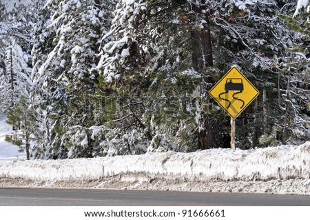 Winter Storm Warning Sign
