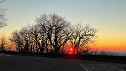 Winter sunrise in Shenandoah National Park
