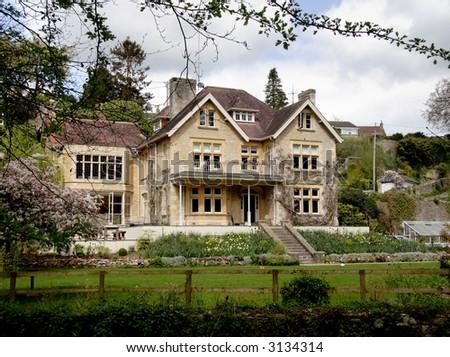 Stone house manor wedding