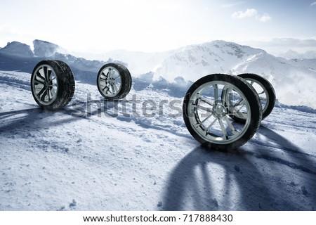 Winter Tires (3D Rendering) #717888430