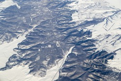 winter. view from the airplane