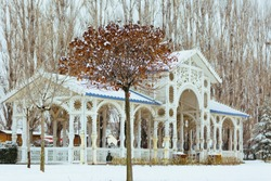 Winter view in Eskişehir Sazova park. Eskisehir is one of Turkey's most important tourism city.