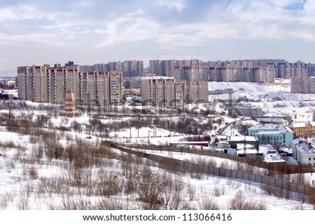 Winter view of Murmansk city