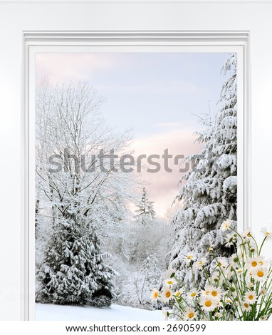 Winter view with thoughts of spring blooming