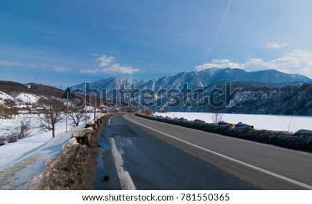 winter views of the countryside in Romania #781550365
