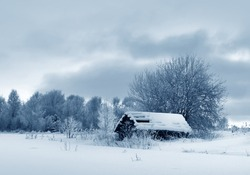 Winter weather, countryside