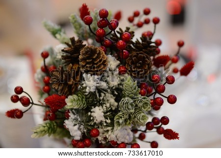 Winter wedding bouquet #733617010