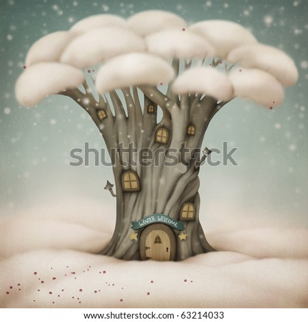 stock photo : Winter Welcome