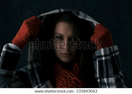 stock photo: winter woman