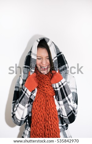 stock photo: laughing woman
