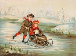 Winter Wonderland - an early 1900s vintage illustration.