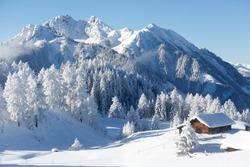Winter wonderland in the Austrian alps