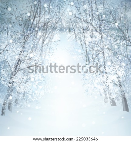 Winter wonderland landscape.
