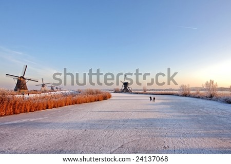 Winterscenic in the Netherlands