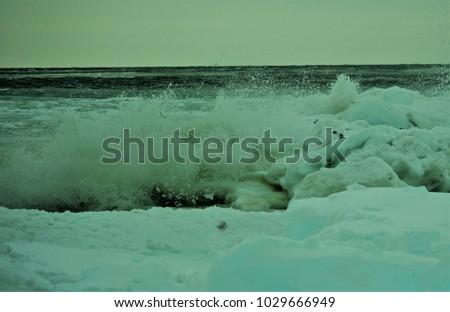 Wintertime on the beach #1029666949