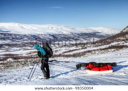 Wintertrekking in Sweden