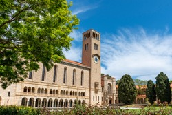 Winthrop Hall located at the University of Western Australia, in Perth, Australia