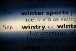 wintry word in a dictionary. wintry concept, definition.