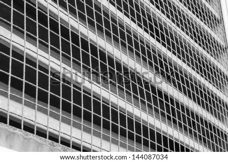 wire coverd industrial vent - stock photo