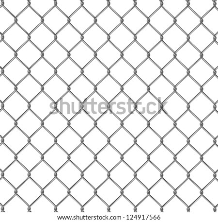 Wire fence 3d illustration