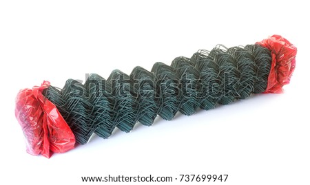 wire fence in front of white background #737699947