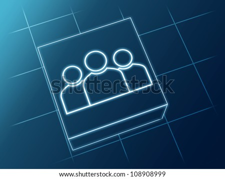 wire glowing Group sign over box and net