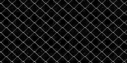 Wire mesh background. Chain link metal seamless pattern fence on black background. Prison barrier, property boundary concept. 3d illustration