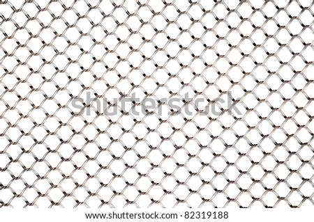 wire net isolated white background