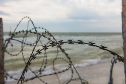 Wire on the beach