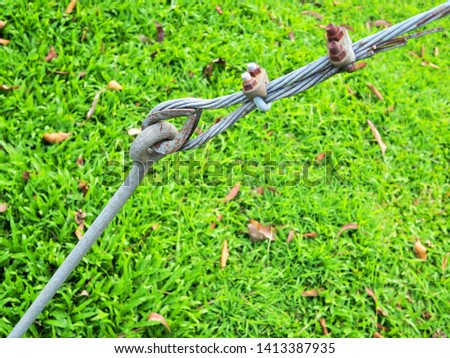 Wire rope for fastening for background  #1413387935
