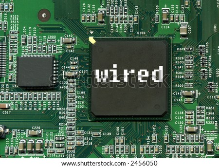 wired label on motherboard stock photo 2456050 shutterstock. Black Bedroom Furniture Sets. Home Design Ideas
