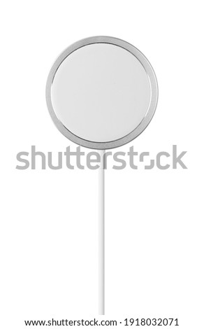 wireless charger on white background.magnetic charging Stockfoto ©