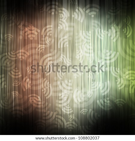 Wireless color wave abstract background