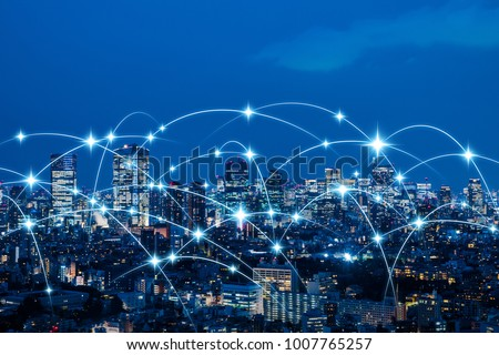 Wireless communication network concept. IoT(Internet of Things). ICT(Information Communication Technology). #1007765257