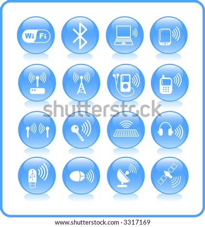 Wireless communications raster iconset. Vector version is available in my portfolio