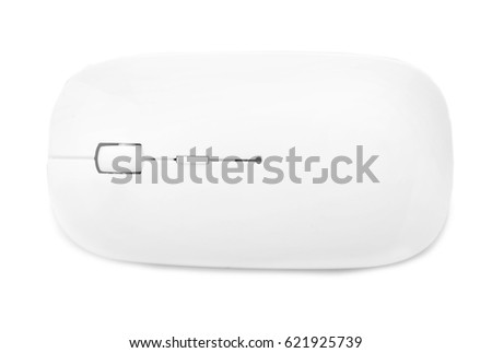 Wireless computer mouse on white background #621925739