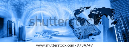 Wireless computer security theme