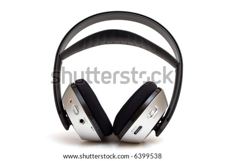 Wireless headphone isolated on white