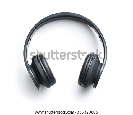 Wireless headphones on white background