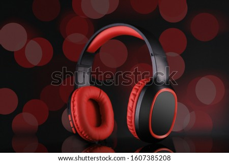 Wireless Headphones with Blurred Background