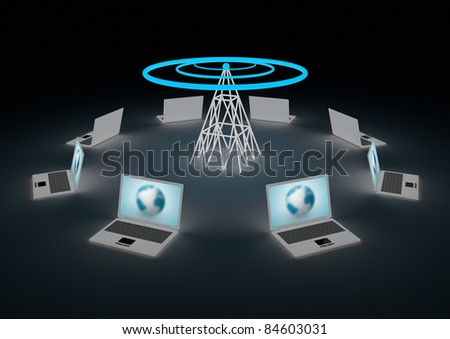 Wireless internet concept