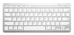 Wireless keyboard, isolated on white background