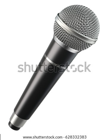 Wireless microphone isolated on white background - 3d illustration