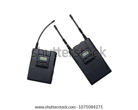 Wireless microphone transmitter over white