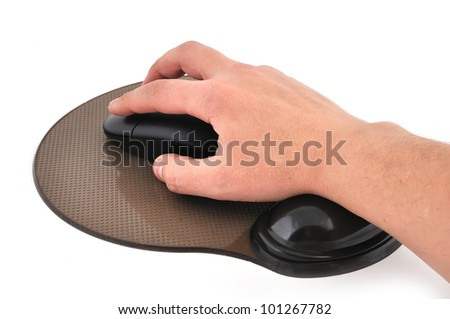 wireless mouse and mause pad  on a white background